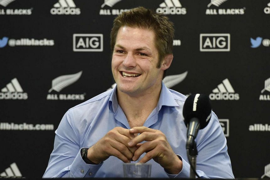 All Blacks team captain Richie McCaw at the press conference to announce his retirement.