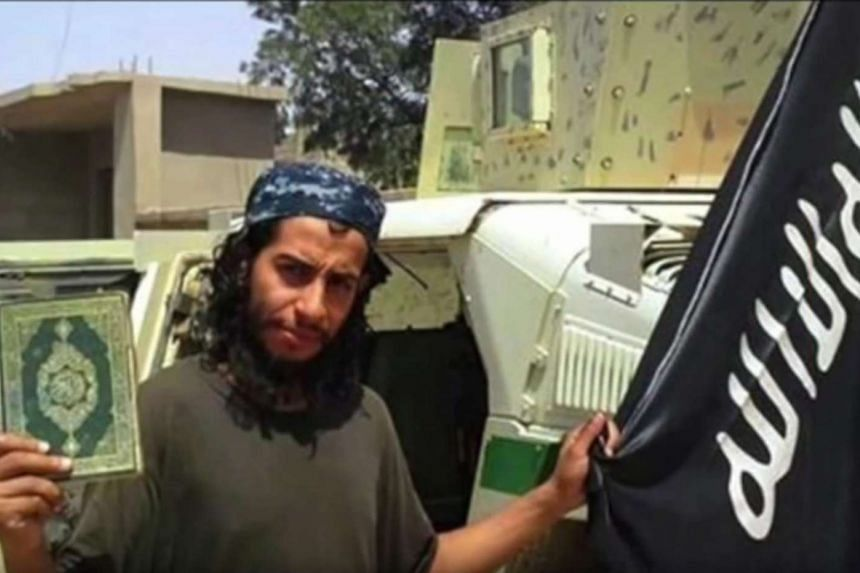 Abdelhamid Abaaoud is seen in an undated video posted by ISIS.