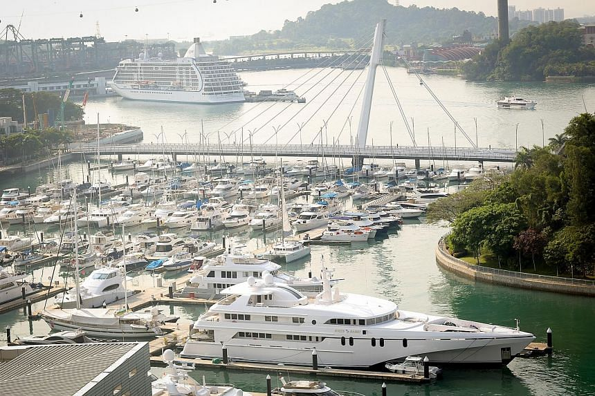 Luxury boats and yachts moored at Keppel Bay. Singapore's burgeoning financial markets and superior quality of life are strong pull factors for the world's high-net-worth individuals, says a WealthInsight report.
