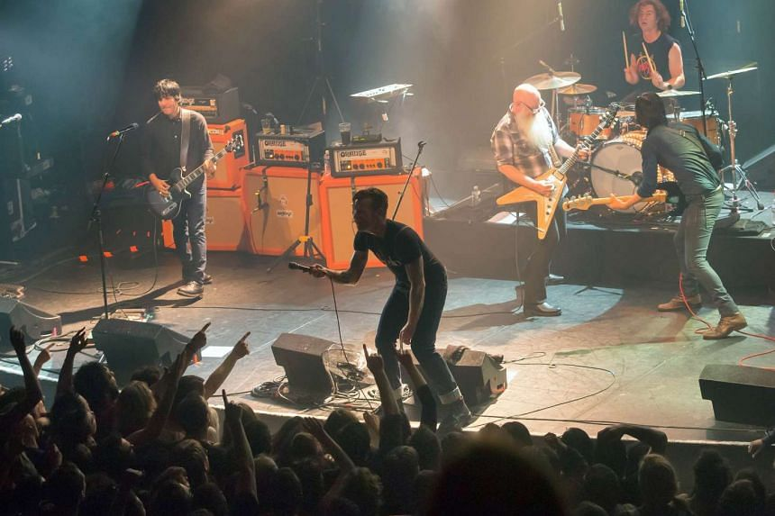 Eagles of Death Metal on stage at the Bataclan concert hall in Paris.