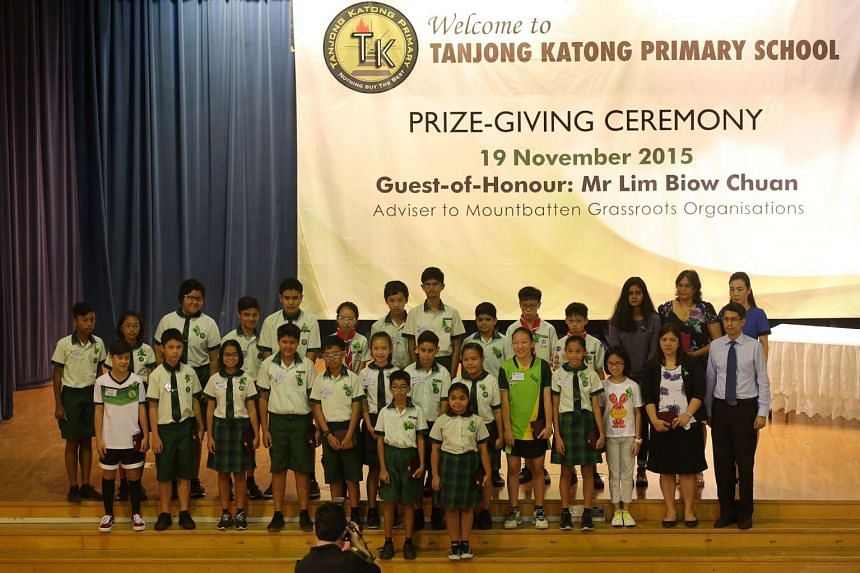 The students of Tanjong Katong Primary School who were presented the TKP Braveheart Award.