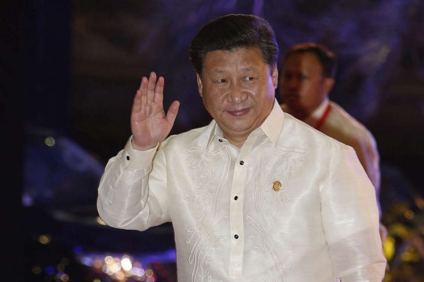 Chinese President Xi Jinping arrives for a welcome dinner during the Asia-Pacific Economic Cooperation summit in the capital city of Manila, Philippines, Nov 18, 2015.
