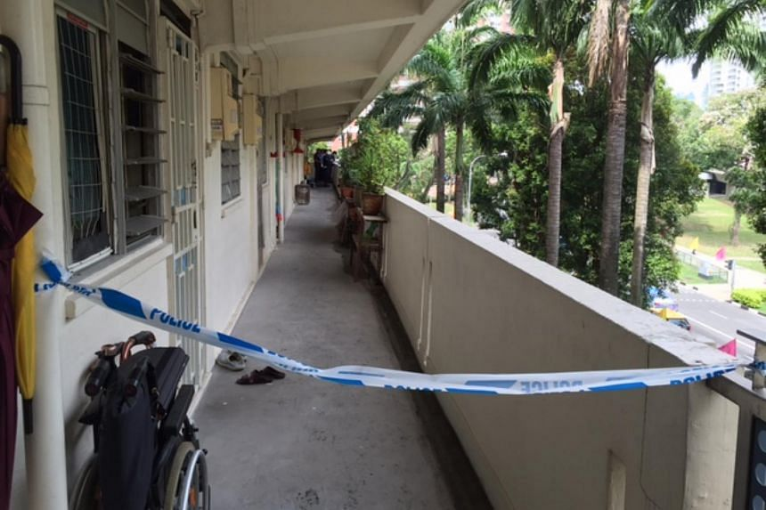 As of 11am, the area outside the unit was still cordoned off.