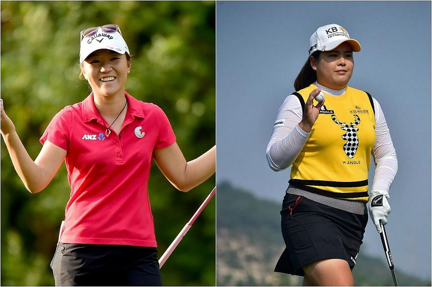 New Zealand's world No. 1 golfer Lydia Ko (left) and second-ranked Park In Bee of South Korea are set to battle it out for an array of LPGA Tour honours at the season-ending CME Group Tour Championship this week in Florida.