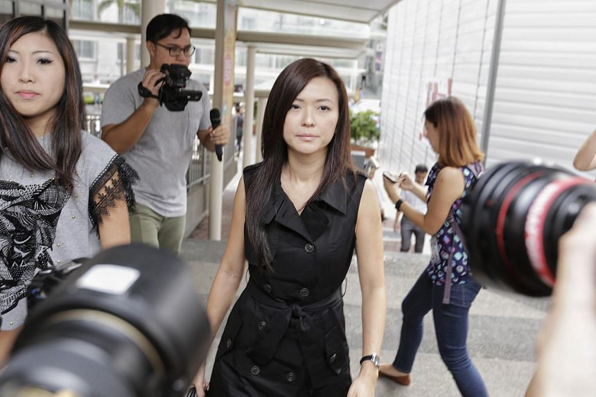 Serina Wee arriving at the State Courts on Nov 20.