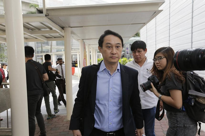 Chew Eng Han arriving at the State Courts on Nov 20.