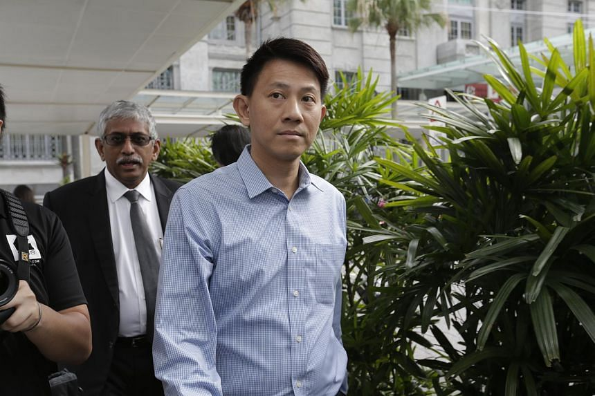 Tan Ye Peng arriving at the State Courts on Nov 20.