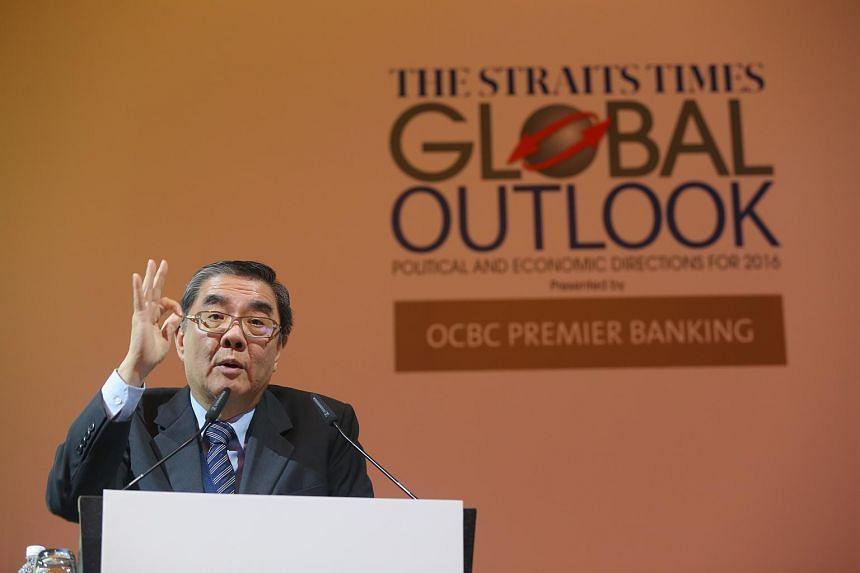 Ambassador-at-Large and deputy chairman at S. Rajaratnam School of International Studies, Mr Ong Keng Yong, speaking during The Straits Times Global Forum 2015 on Nov 20, 2015.