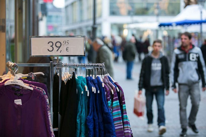A clothing store in Bonn, Germany, on Feb 26, 2015.