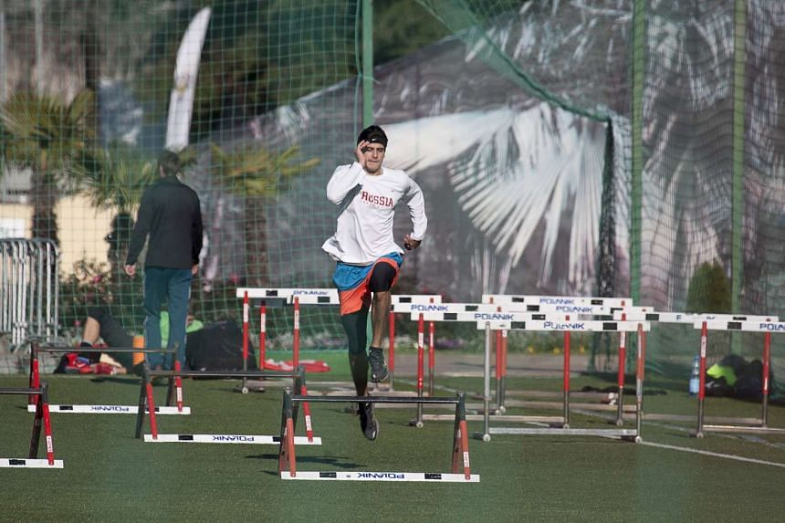 Russia's national team athletes conduct training at their ground in Sochi, Russia, on Nov 14, 2015.