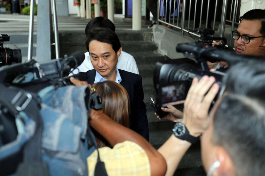 Chew Eng Han leaving the State Courts.