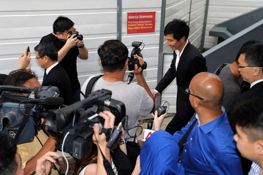 Kong Hee leaving the State Courts.