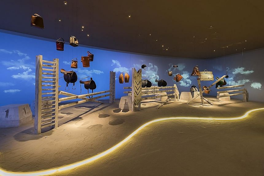 An exhibit at the Hermes Leather Forever exhibition.