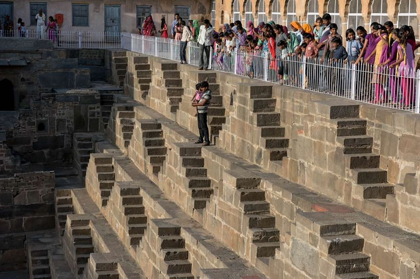 The historic Chand Baori stepwell in Abhaneri village, Rajasthan, on Sept 24.