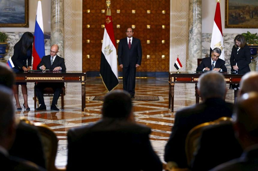 Documents are signed for a deal to build Egypt's first nuclear power plant.