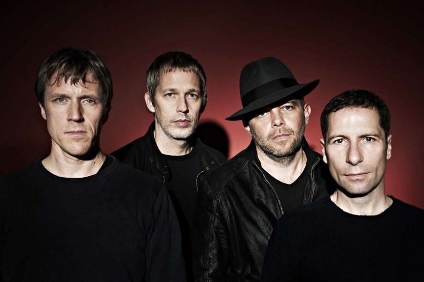 "British band Ride members (from left) Laurence ""Loz"" Colbert, Andy Bell, Mark Gardener and Steve Queralt."