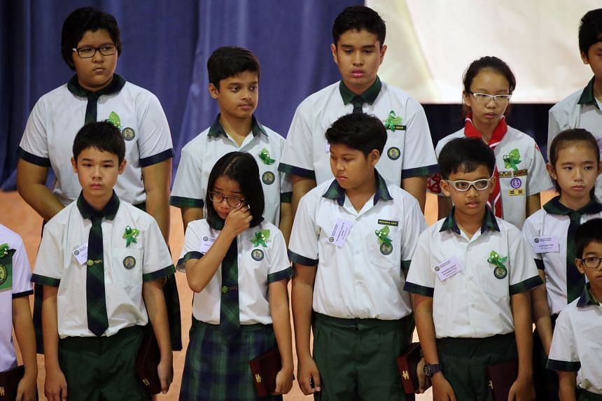 The TKPS pupils who survived the Mount Kinabalu earthquake yesterday received awards that recognised their courage and resilience. Their seven schoolmates who died received the award posthumously.