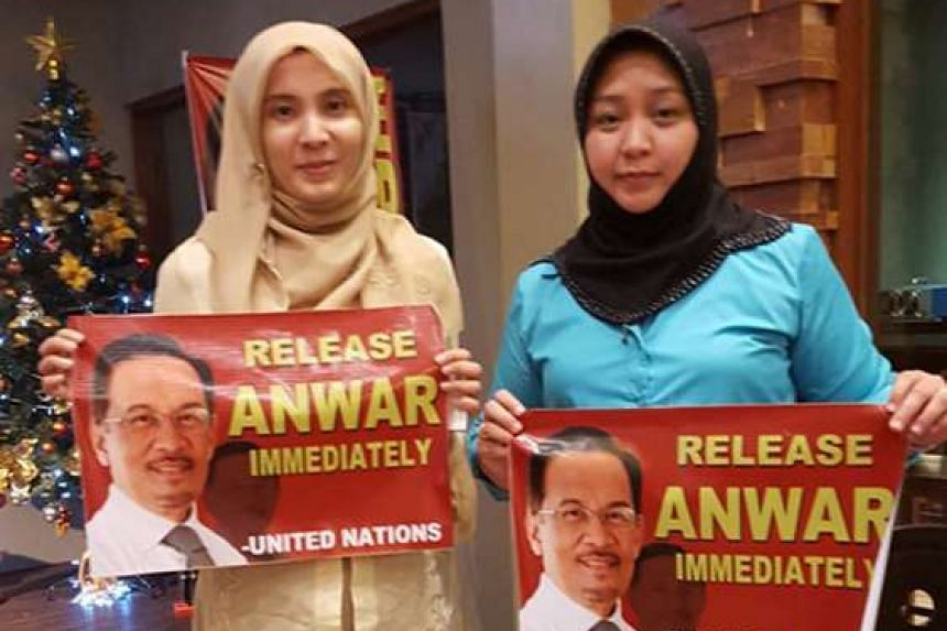 Ms Nurul Izzah (left) and Ms Jacel Kiram, daughter of the former self-styled Sulu Sultan.