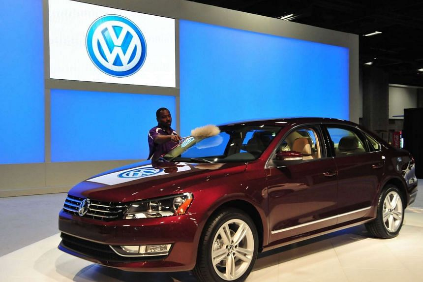 This Jan 27, 2011 file photo shows the Volkswagen Passat TDI clean diesel car on display at the 2011 Washington Auto Show at the Washington Convention Center in Washington, DC.
