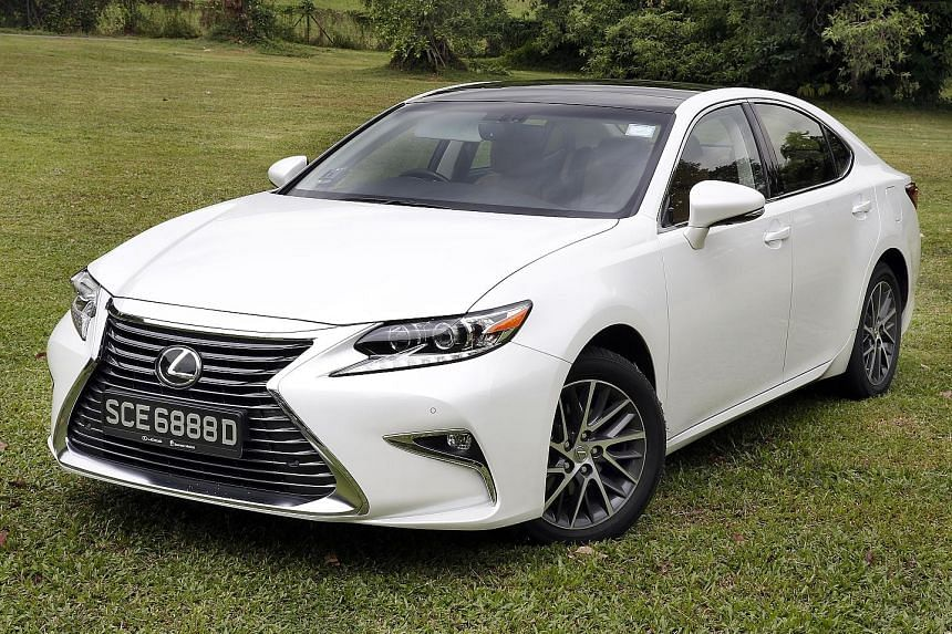 After a makeover, the Lexus ES250 looks sportier and has a more luxurious interior.