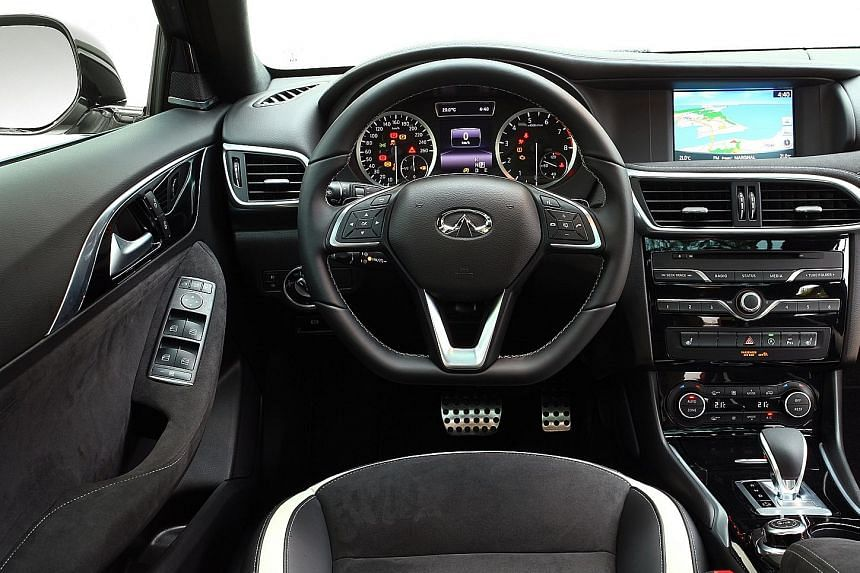 The Infiniti Q30 drives and rides like a luxury car.