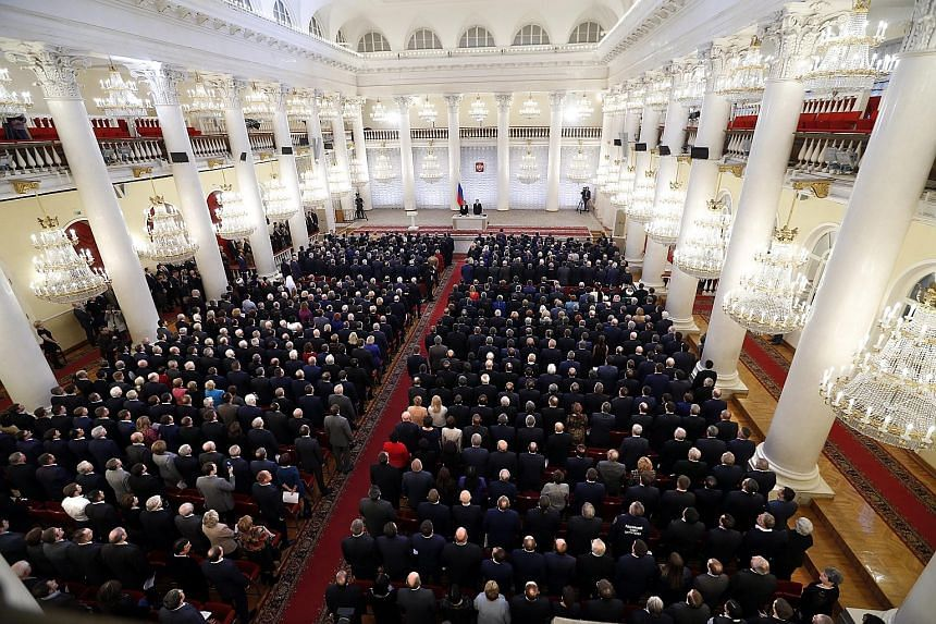 In a rare meeting of both chambers of Russia's Parliament yesterday, deputies and senators adopted a resolution calling for tougher action against terrorists, among other security measures.