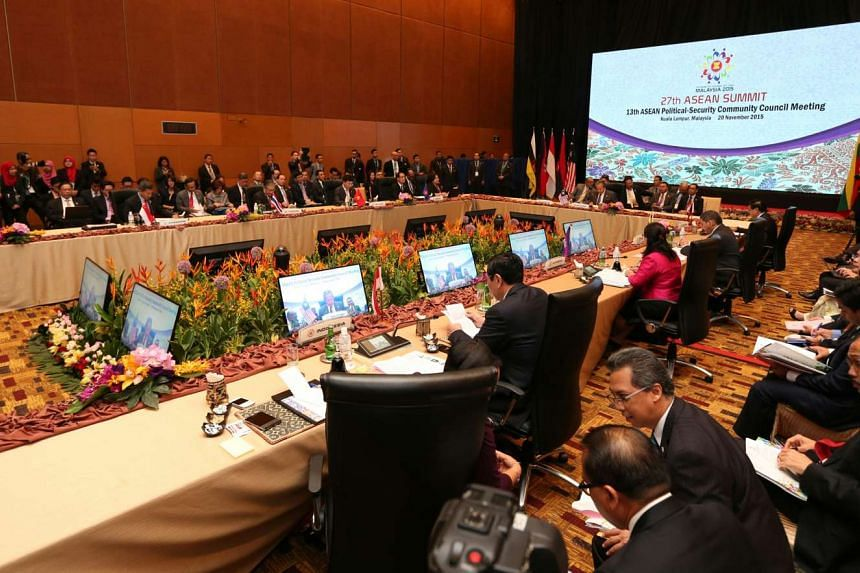 Ministers at the Asean Summit in Kuala Lumpur.