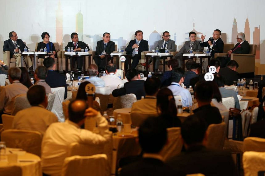 The Straits Times Global Outlook Forum 2015 was held at the Grand Copthorne Waterfront Hotel on Nov 20, 2015.