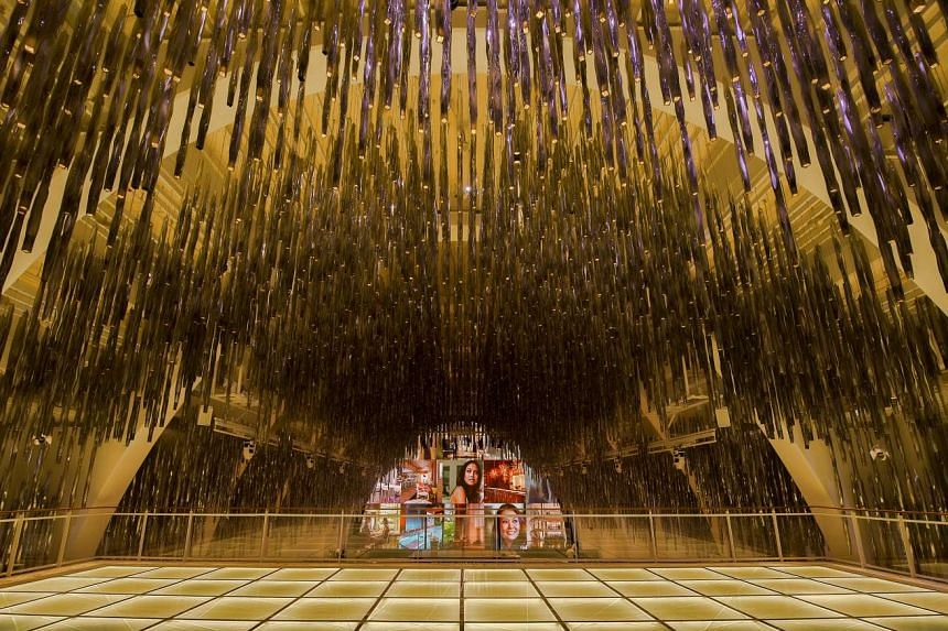 The former Block 9 is now The Grand Ballroom, and features a sea of lights hanging down from a 12m-high ceiling.