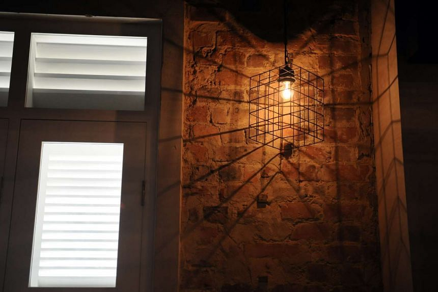 The brick work of the former Block 1 is left exposed as seen in Inside Vatos Urban Tacos.