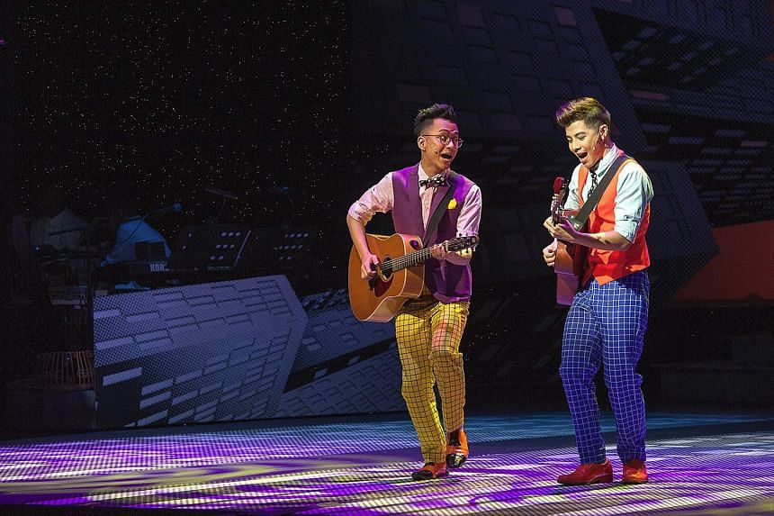 Sezairi (left) and Benjamin Kheng in The Emperor's New Clothes, Wild Rice's Christmas pantomime.