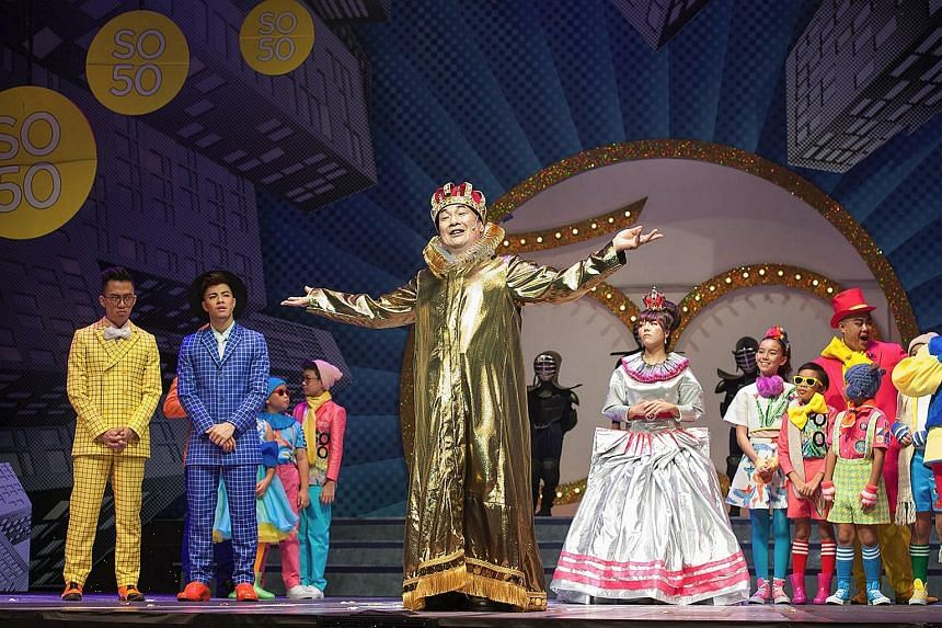 (From left to right) Sezairi, Benjamin Kheng, Lim Kay Siu and Audrey Luo in The Emperor's New Clothes.
