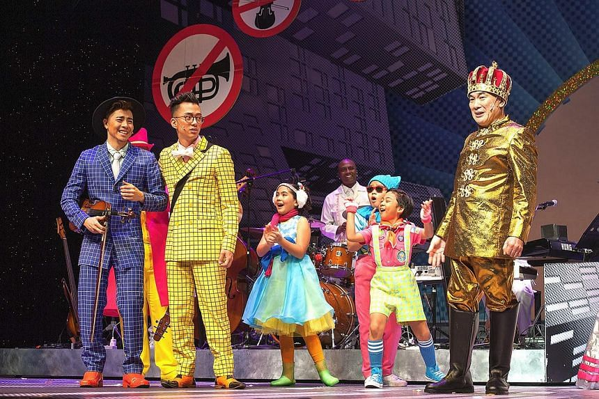 (From left to right) Benjamin Kheng, Sezairi and Lim Kay Siu in The Emperor's New Clothes.