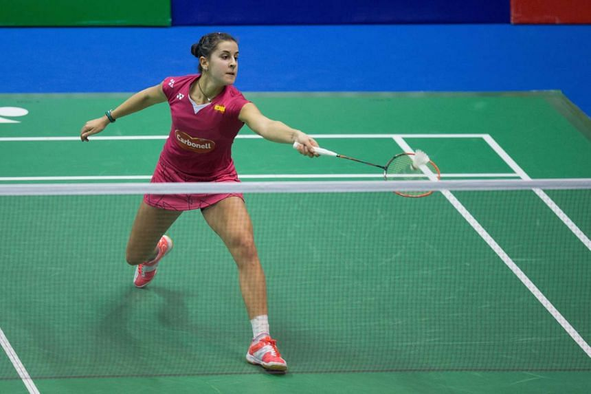 World Champion Carolina Marin of Spain during the Yonex-Sunrise Hong Kong open on Nov 21, 2015.