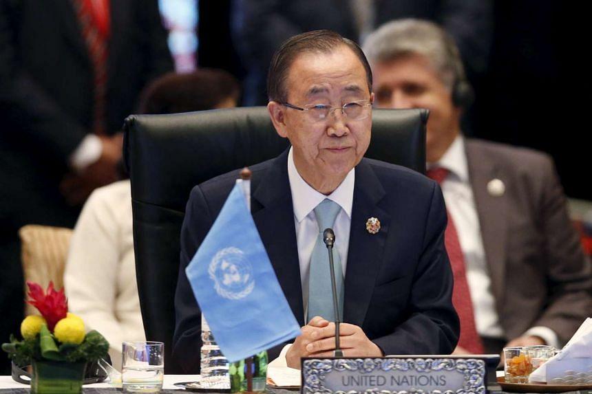 UN Secretary-General Ban Ki Moon attending the 10th East Asia Summit in Kuala Lumpur on Nov 22, 2015.