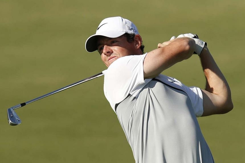 Rory McIlroy during the final round of the DP World Tour Championship.