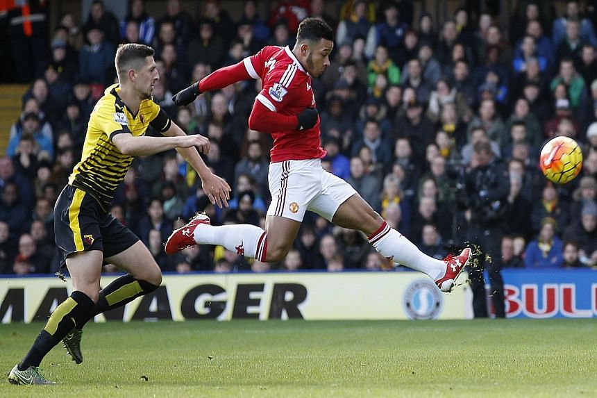Memphis Depay, who was incisive through the middle and on the left, scored the game's first goal in Manchester United's 2-1 Premier League victory against Watford yesterday.