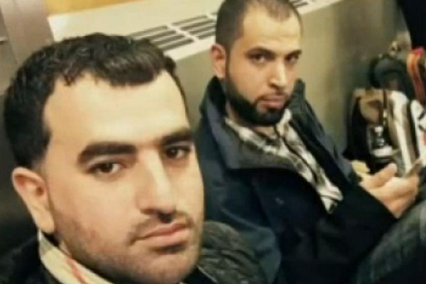 Mr Maher Khalil (left) and Mr Anas Ayyad were kept from boarding a flight from Chicago to Philadelphia on Southwest Airlines.
