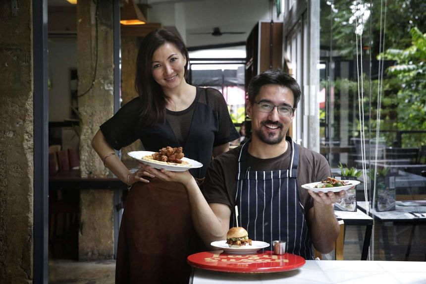 Spa Esprit Group is holding a pop-up programme called Lazy Susan, starting with Canadian chef Haan Palcu-Chang. Ms Cynthia Chua (left), the group's chief executive, met him when she dined at Le Mary Celeste in Paris, a small plates and cocktails re