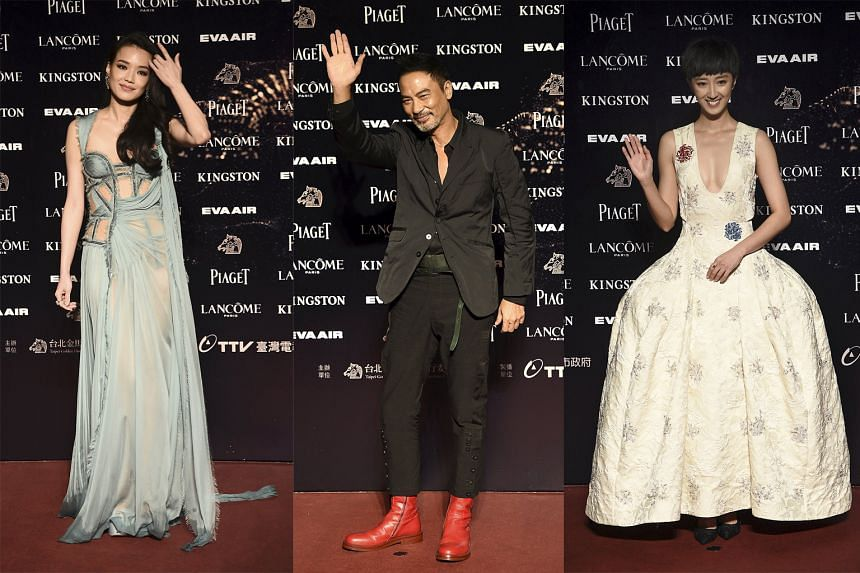 From left to right: Shu Qi, Simon Yam and Gwei Lun-mei.