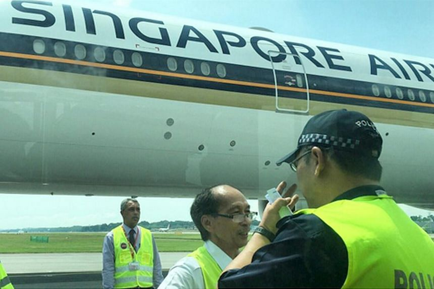 A Singapore Airlines flight from San Francisco via Hong Kong was delayed at Changi Airport for several hours after landing.