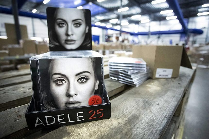 The new album of British singer Adele, 25 is ready for distribution at Bertus Wholesale & Distribution in Capelle aan de IJssel, The Netherlands.