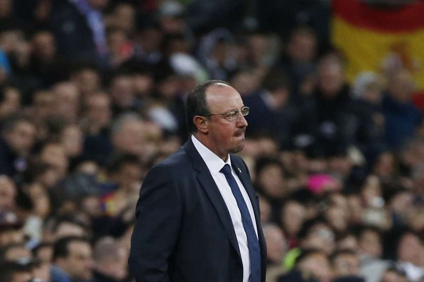 Real Madrid manager Rafael Benitez during the Real Madrid vs Barcelona game on Nov 21, 2015.