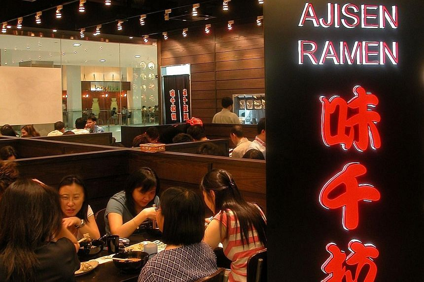 Japan Foods Holding, which runs the Ajisen Ramen eateries, posted a 36.8 per cent rise in net profit to $1.3 million in the three months to Sept 30.