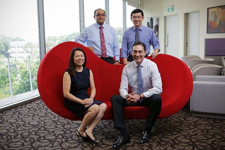 NUH doctors (clockwise from top left) Asim Shabbir, Koh Liang Piu, Theodoros Kofidis and Anita Lim are among medical professionals from overseas who have made Singapore their home. Dr Asim and Dr Koh, originally from India and Malaysia respectively,
