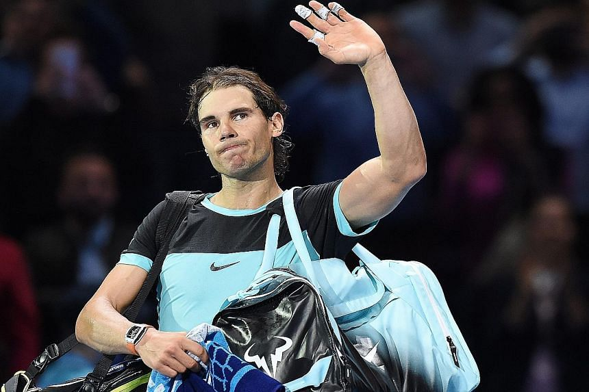 Rafael Nadal after his straight-set loss to Novak Djokovic in their semi-final at the ATP World Tour Finals on Saturday.