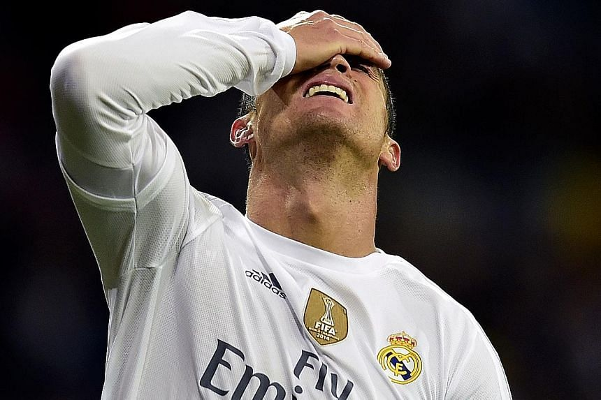 Cristiano Ronaldo shows the pain of defeat,