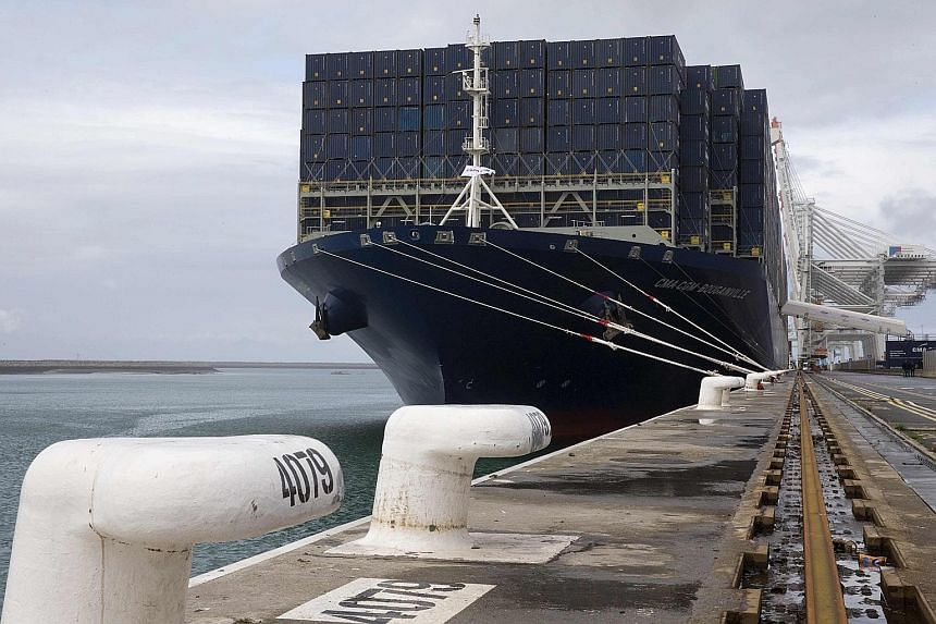 A CMA CGM Bougainville container ship in the port of Le Havre, France, last month. CMA faces pressure to expand as the potential merger of two state-owned Chinese shipping giants, China Ocean Shipping Group and China Shipping Group, could reduce the
