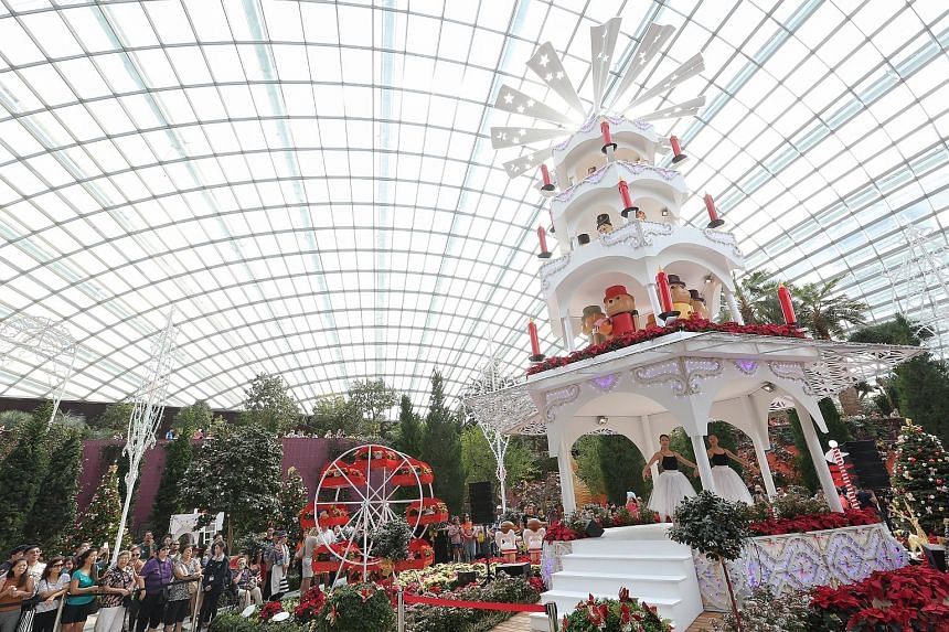 Gardens by the Bay welcomed its 20 millionth visitor since opening its doors in 2012. And to mark the event, the attraction invited the 20 millionth special visitor, Miss Gowri Subramanian, 25, yesterday to launch a Christmas Toyland floral display w