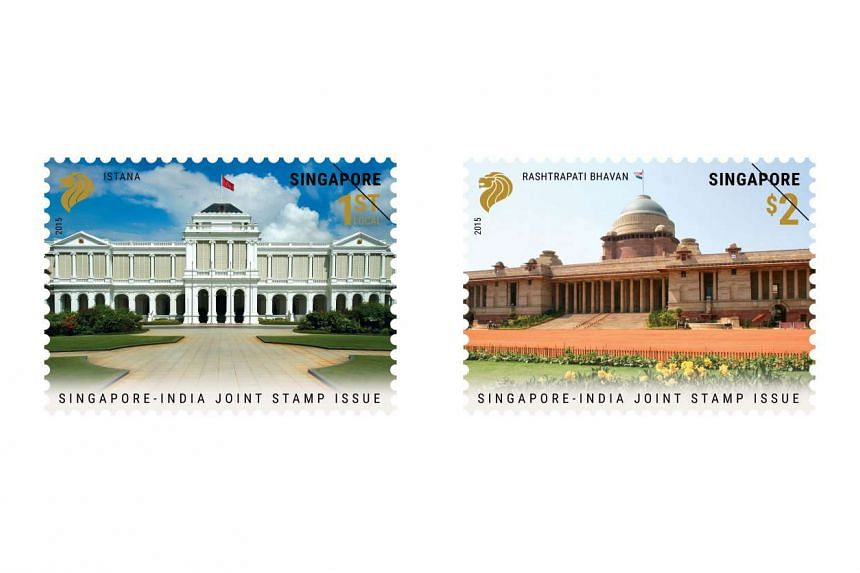 The launch of the stamp set coincides with Indian PM Narendra Modi's official visit to Singapore.